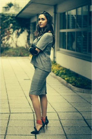heather gray Orsay blazer - heather gray Orsay skirt