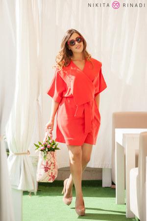 red nikita rinadi dress - light pink Furla bag - red Tommy Hilfiger sunglasses