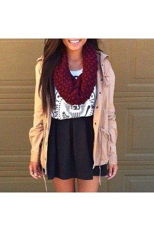 scarf - jacket - skirt - top
