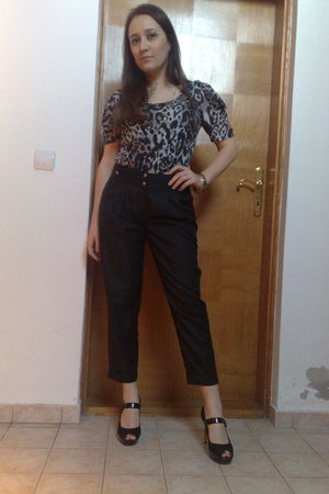 Zara blouse - H&M pants - Miss Selfridge shoes