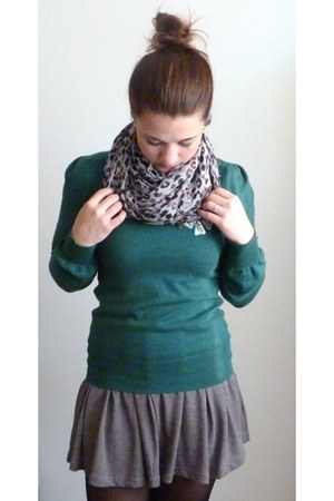 heather gray Pimkie scarf - heather gray jersey skirt H&M skirt