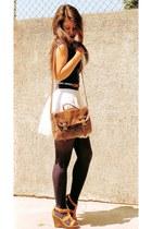 Bershka shirt - BLANCO bag - BLANCO skirt