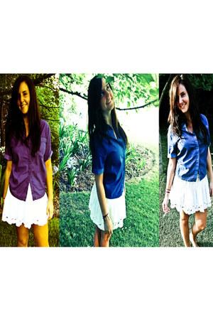 denim Topshop blouse