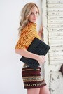 Black-moon-purse-light-orange-h-m-top-brown-ysl-sandals-zara-skirt