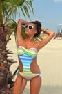 White-sunglasses-swimwear-bracelet