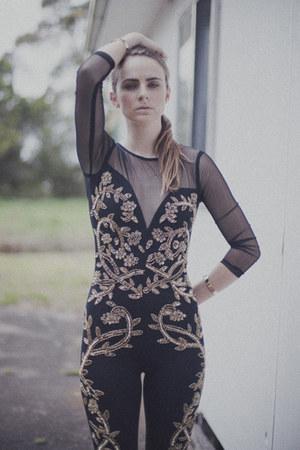 gold H&M accessories - skinny heels Zara heels - baroque asos bodysuit