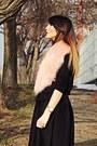 Black-bershka-sweater-black-custom-made-skirt