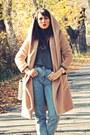Camel-wool-rosewe-coat-blue-bershka-jeans