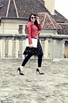 black Zara dress - black H&M jeans - black Zara heels