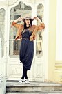Gray-pimkie-dress-light-brown-h-m-hat-brown-tassels-rosewe-jacket