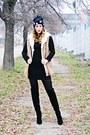 Black-nissa-boots-black-zara-dress-black-beanie-new-yorker-hat