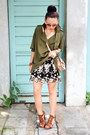 Olive-green-plain-nava-jacket-black-embroidered-nava-skirt