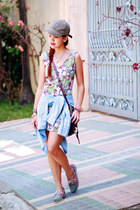 olive green floral Nava dress - bubble gum docksides Sebago flats