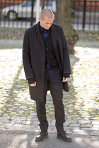 balenciaga tie - acne coat - lanvin pants - Jil Sander shirt - Dr Martens shoes