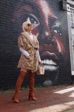 Zara sweater - Topshop boots - kate spade purse - Burberry sunglasses