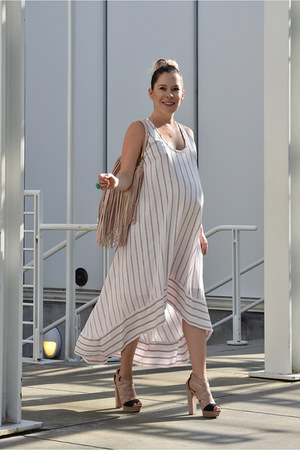 bcbg max azria dress - H&M purse - Bershka heels