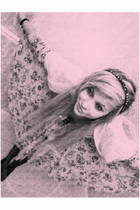 beige Topshop dress - white H&M cardigan - purple Topshop accessories