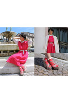 hot pink pure cotton vintage dress - bubble gum Jeffrey Campbell shoes