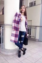 Zara coat - Zara boots - Zara jeans - Zara sweater