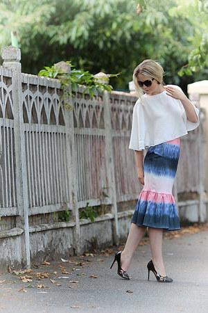 asos skirt - Topshop sunglasses - asos top - D&G heels