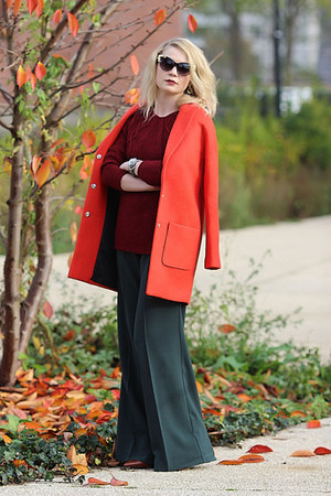 Fashion Union coat - 123 sweater - Zara heels - asos pants