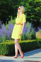Zara dress - Parfois sunglasses - Casadei heels - H&M belt