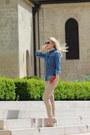 Denim-zara-shirt-guess-scarf-guess-sunglasses-trussardi-pants