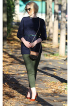 asos sweater - Ray Ban sunglasses - asos pants - Zara heels