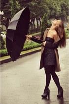 Zara skirt - H&M coat - Topshop heels
