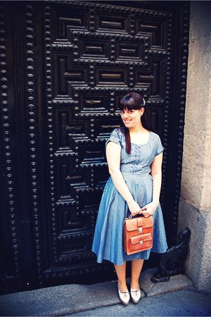1940s vintage dress - Urban Outfitters shoes - Urban Outfitters bag