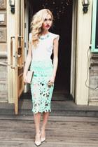 StyleMoi skirt - warehouse bag - Zara top - Zara heels
