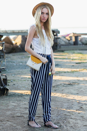 Zara top - Zara pants - Steve Madden sandals