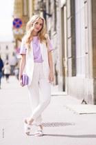 Zara boots - silver versace shirt - Zara panties