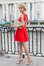 Zara shoes - Sheinside dress - warehouse bag