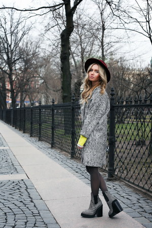 vintage hat - Jeffrey Campbell shoes - Topshop coat