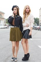 black Zara skirt