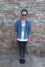 Dark-gray-moccasin-bata-shoes-dark-gray-skinny-jeans-zara-jeans-navy-h-m-hat