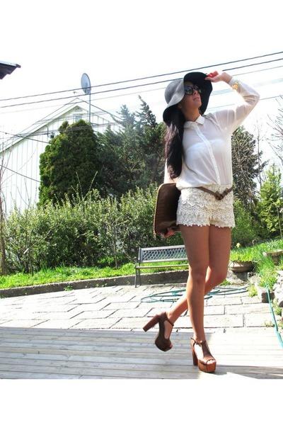 Mango shirt - Topshop hat - ZarraHome watch - Bershka sandals - ZarraWomen pants