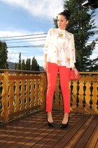 Newlook jeans - Stradivarius shoes - Topshop shirt - zarra bag
