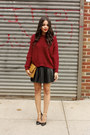 Goodnight-macaroon-sweater-mcm-bag-goodnight-macaroon-skirt-zara-heels
