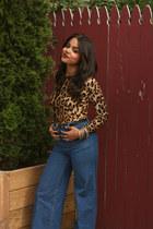 leo print shirt OASAP shirt - H&M jeans