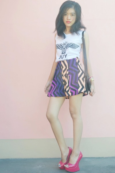 amethyst Wardrobe skirt - white Wardrobe shirt - black Candy Bag bag