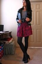 Forever21 t-shirt - Forever21 skirt - Guess belt - Charlotte Russe boots - ashle