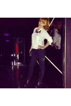 H&M jeans - Bershka shirt - H&M necklace - H&M heels
