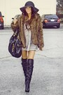 Black-speed-limit-98-boots-black-h-m-skirt-beige-soho-boutique-blouse-brow