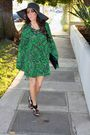 Green-forever-21-dress-black-anne-michelle-shoes-black-boutique-purse-blac