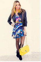 navy HAUTE & REBELLIOUS dress - yellow HAUTE & REBELLIOUS bag