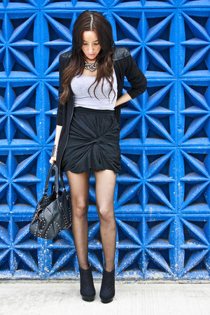 black twenty twelve sweater - black michael antonio shoes - black Aldo purse