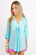 Aquamarine-chiffon-haute-rebellious-blouse