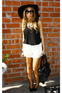 Lace-shorts-haute-rebellious-shorts-boho-floppy-haute-rebellious-hat